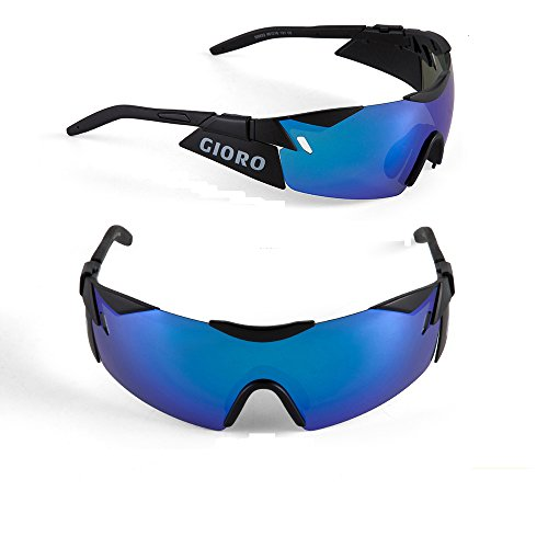Sunglasses Revo Affordable (Sports Sunglasses for Men Women Cycling Running Fishing Glof Baseball Glasses HD REVO Polarized 100% UV Protection by Gioro (Black))
