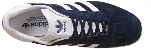 adidas Gazelle, Zapatillas Unisex Adulto Multicolor (Collegiate Navy/White/Gold Metalic)