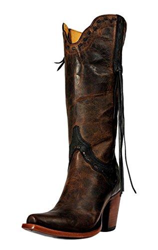 Johnny Ringo Women's Shirley Western Boot, MAD Dog Chocolate, 8.5 B (Chocolate Mad Dog)