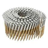 (4500 Count) 2-1/2'' x .099 Hitachi 12218 Screw Shank Bright Coil Framing/Sheathing Nails