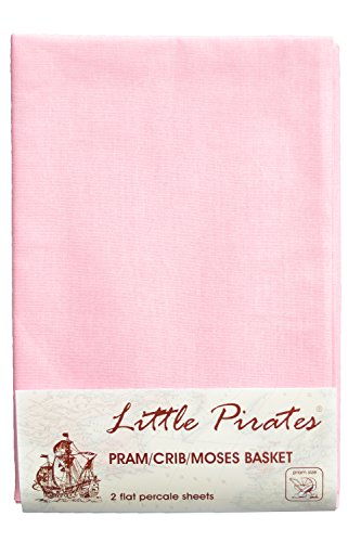 2 x Baby Pram//Crib Fitted Sheet 100/% Cotton Luxury Percale Blue 40x90cm