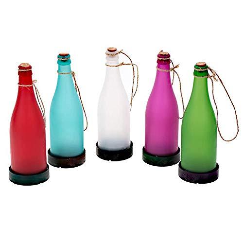 Solar Colgante De Luz para,Plástico con Cuerda De Cáñamo con Botella Lámpara De Luz para Casa Y Jardín Al Aire Libre...