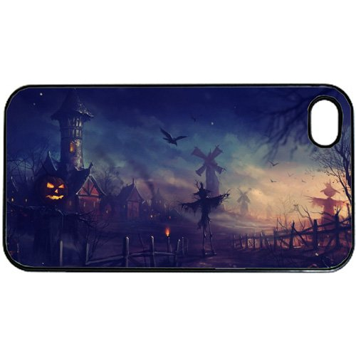 (Halloween Pumpkin creepy scary Apple iPhone 5 or 5s PLASTIC cell phone Case / Cover Great Gift)