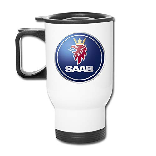 - TIMOTHY HORN SAAB Logo 15 Oz Double Wall Stainless Steel Vacuum Insulation Travel Car Cup