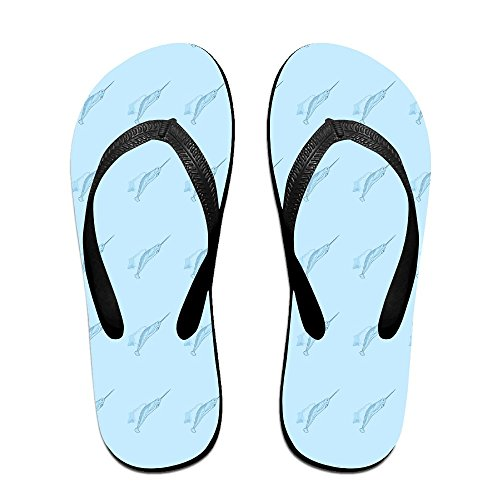 QR FUNK Unisex Angry Narwhal Ice Summer Comfortable Flip Flops Beach - Sale Havianna
