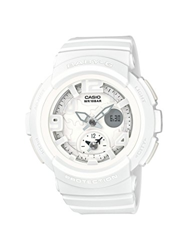 Casio Women's Baby G BGA190BC-7B White Rubber Quartz Sport Watch