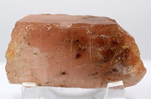 HC Set: 54mm Natural Hematoid Fire Quartz Point Red Phantom Crystal Wand Mineral Stone Stick - Tibet + One Polished Clear Quartz Cabochon