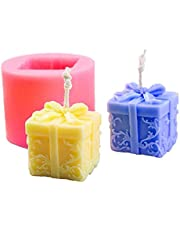 finebrand 3d Candle Mold Klussen Stereo Silicone Soap Mold Cylinder Fondant Gift Box Casting Voor De Doe-crafts Making