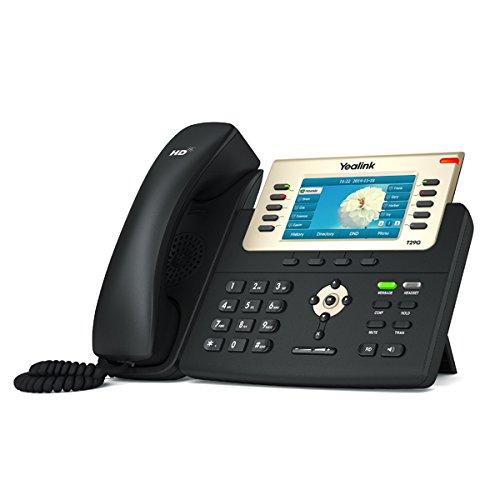 Yealink T29G IP Phone, 16 Lines. 4.3-Inch Color Display. USB 2.0, Dual-Port Gigabit Ethernet, 802.3af PoE, Power Adapter Not Included (SIP-T29G) by Yealink