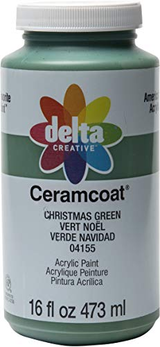 Delta Creative 04155 Ceramcoat Acrylic Paint in Assorted Colors, 16 oz, Christmas Green