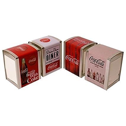 Coca-Cola Vintage Servilletero con 100 servilletas – Coca-Cola Retro dispensador Servilletas Soporte