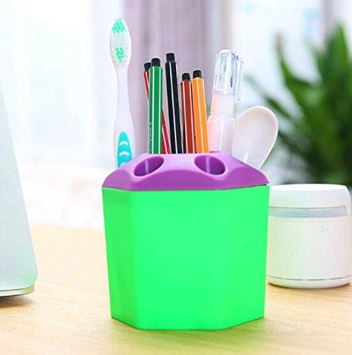 Bestga multi purpose porous brush pot toothbrush toothpaste holder bathroom cabinet organizer - Keep toothpaste kitchen ...