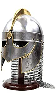 SZCO Supplies Medieval Viking Helmet with Chainmail Battle Ready