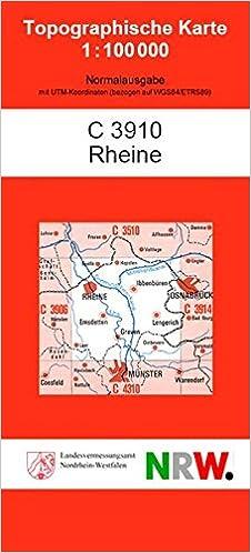 Topographische Karte Nrw.Rheine Tk 100 C 3910 Topographische Karte Nrw 1 100000 Tk 100