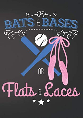 Bats and Bases or Flats and Laces Baseball: Gender Reveal Baby Shower Sign In Guest Book Plain