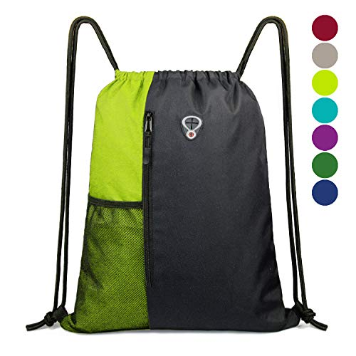 BeeGreen Gym-Bag-Drawstring-Backpack-for -Women Sports Backpack with Water Bottle Mesh Pockets]()
