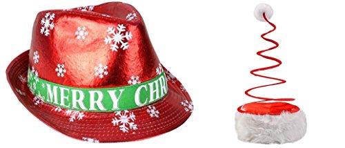 Christmas Dress Up Hats (Fedora + Coil Spring Santa -