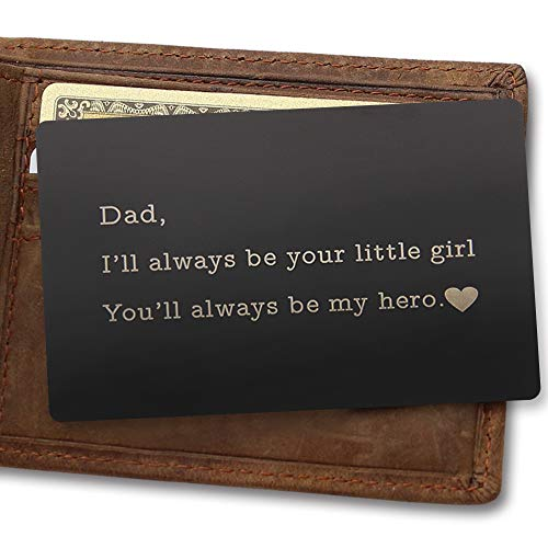 Engraved Wallet Inserts, Love Note - I'll Always
