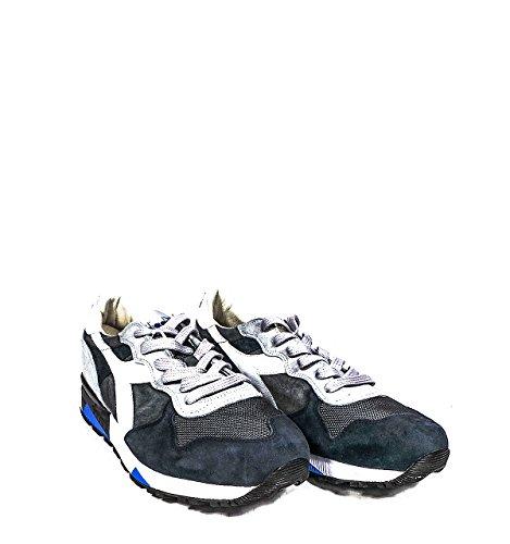 Calzature Uomo DIADORA trident 90 s sneakers in pelle scamosciata e nylon, dettagli in pelle, trattamento stone washed, suola in gomma ed E.V.A., plantare rialzato ed estrabile in poliuretano e pelle