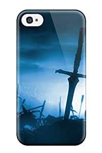 AnnaSanders Case Cover For Iphone 4/4s - Retailer Packaging The End Of War Dark Sky Sword Night Gothic Hell Battle Corpse Abstract Dark Protective Case