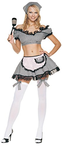 Leg Avenue Womens Naughty Housewife Outfit Fancy Dress Sexy Costume, M/L (8-14)