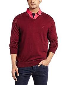 Nautica Men\u0027s Cotton Sweater (8907259519890_NTS536036WW_Large_Windsor Wine)  Image