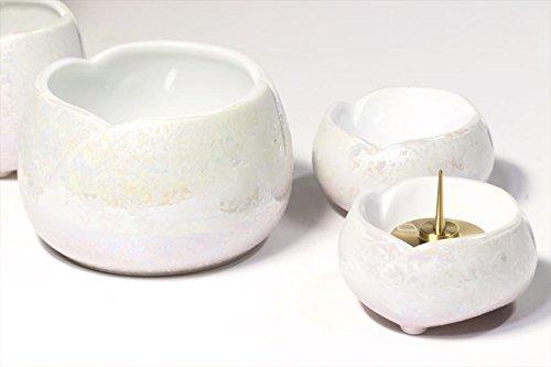 Yamako Buddhist Altar Fittings Ceramic Five Piece Set Luster Purple Color