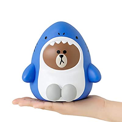 LINE FRIENDS Money Bank - SHARKBROWN Character Jungle Brown Coin Bank: Toys & Games