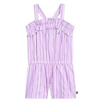 Nautica Toddler Girl's Girls' Fashion Romper Dress, Lilac Oxford, 2T