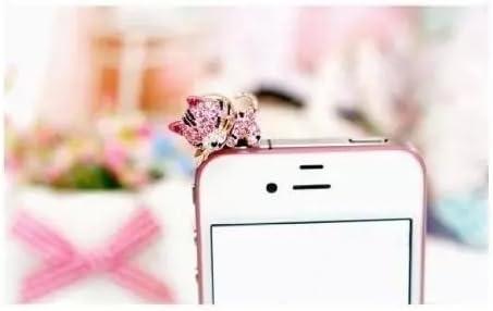 Vandot Rosa Gato Tapon Antipolvo de Diamante Brillante Protector ...