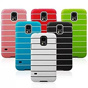 Stripe Pattern TPU Case for Samsung S5 I9600 (Assorted Colors),Black