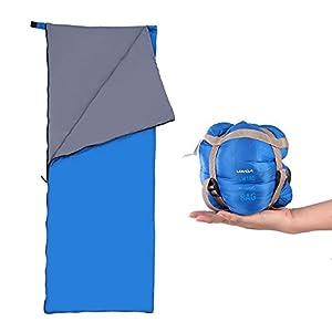 Lixada Saco de Dormir Ultraligero Compresible Multifuncional Saco de Dormir Rectangular 190 * 75cm 680g 5