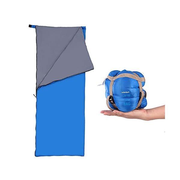 Lixada Saco de Dormir Ultra Ligero Multifuncional 190 * 75cm 680g de Forma de sobre para Acampada Senderismo al Aire Libre 1