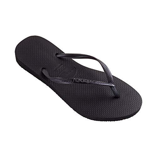 Havaianas Women's Slim Black Rubber Sandal - 7M