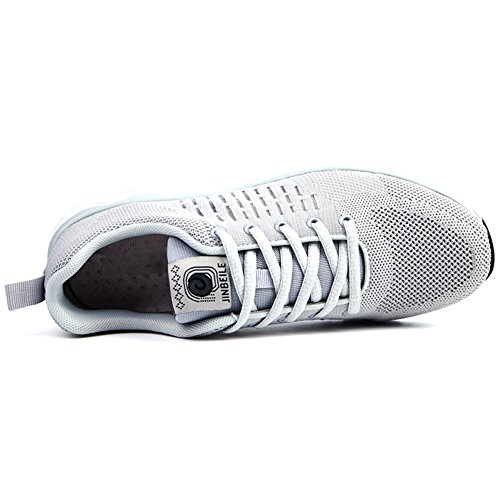 Sneakers Lightweight Shoes Fitness Flyknit Sports Fashion Mens for Grey Jogging Running pYUCq