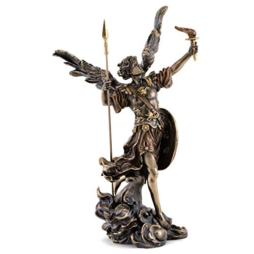 Top Collection Archangel Uriel God is My Light Statue - Phanuel Turn to God Sculpture in Cold Cast Bronze- 13.75-Inch Holy Saint Patron of Salvation Figurine
