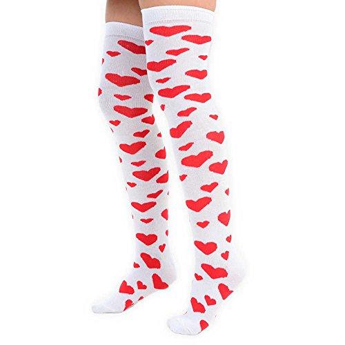 Los calcetines con ascendentes rom corazones 1X8q1wr