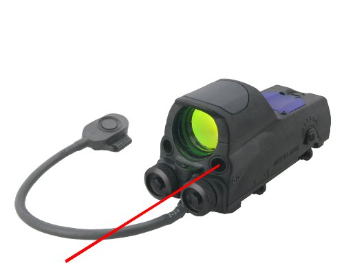 Mako Mepro Mor B Bullseye Reticle Multi Purpose Reflex Sight with Red Laser Pointer and Quick Release Flat Top Adapter, Black by Mako Group