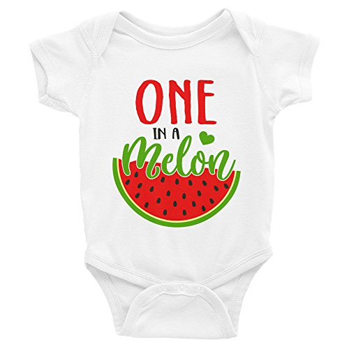 - Promini Funny One in A Melon Baby Bodysuit Cool Infant One-Piece Baby Bodysuit Baby Romper for Boy Girl Gift