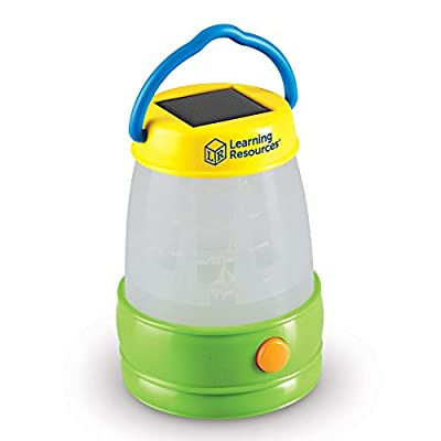 Learning Resources Solar Lantern, Kids Camping Accessories, Easy-Grip Portable Light, Exploration Play, Ages 3+: Toys & Games