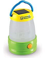 Learning Resources Solar Lantern, Kids Camping Accessories, Easy-Grip Portable Light, Exploration Play, Ages 3+