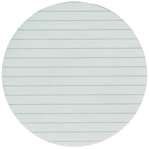 GE Whatman 10347033 Ruled Qualitative Special-Purpose Filter Paper with Green Lines at 5mm Intervals, Grade 8, White, Circle, 75mm Diameter (Pack of 100) by Whatman
