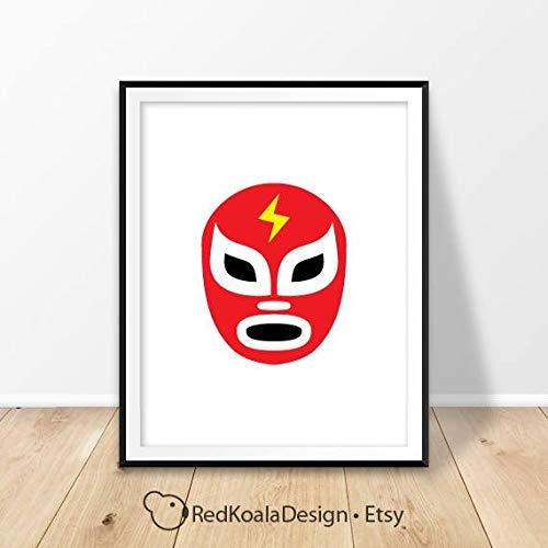 - MalertaART Luchador mask Print Lucha Libre Print Prints Mexico Decor Mexican Wrestling Lucha Masks Gift for him Printable Art Framed Wall Art