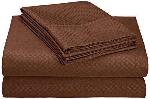 Italy Bed Linens (Organic Earth Egyptian Comfort 1800 Series Eco-Friendly 6 Piece Sheet Set, King, Brown)