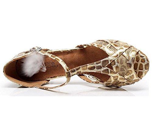 pompe 41 EU39 Danza EU39 latino sandali a Suola Leopardato 35 Scarpe Da morbida 85CMHEEL XIE donna da Taogo xFzwUq4
