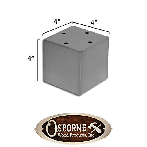 4'' Madison Vanity Foot (Hollow) (Brushed Aluminum Finish) by Osborne Wood Products, Inc (Image #3)