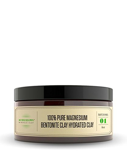 Mississippi Miracle Clay 100% Pure Magnesium Bentonite Clay Hydrated Clay, 8oz
