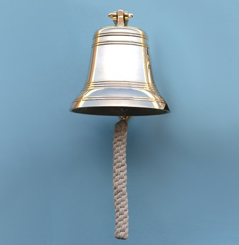 Nine Inch Diameter Brass Ship's Bell by Stanley London