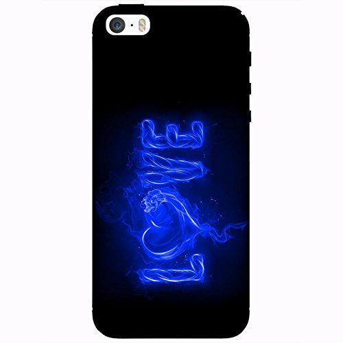 Coque Apple Iphone 5-5s-SE - Love feu bleu