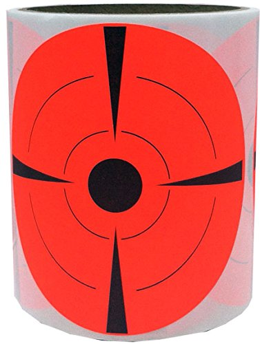 "4"" Inch Round Fluorescent Red and Black Target Pasters Adhesive Shooting Targets - 50 Target Dots"